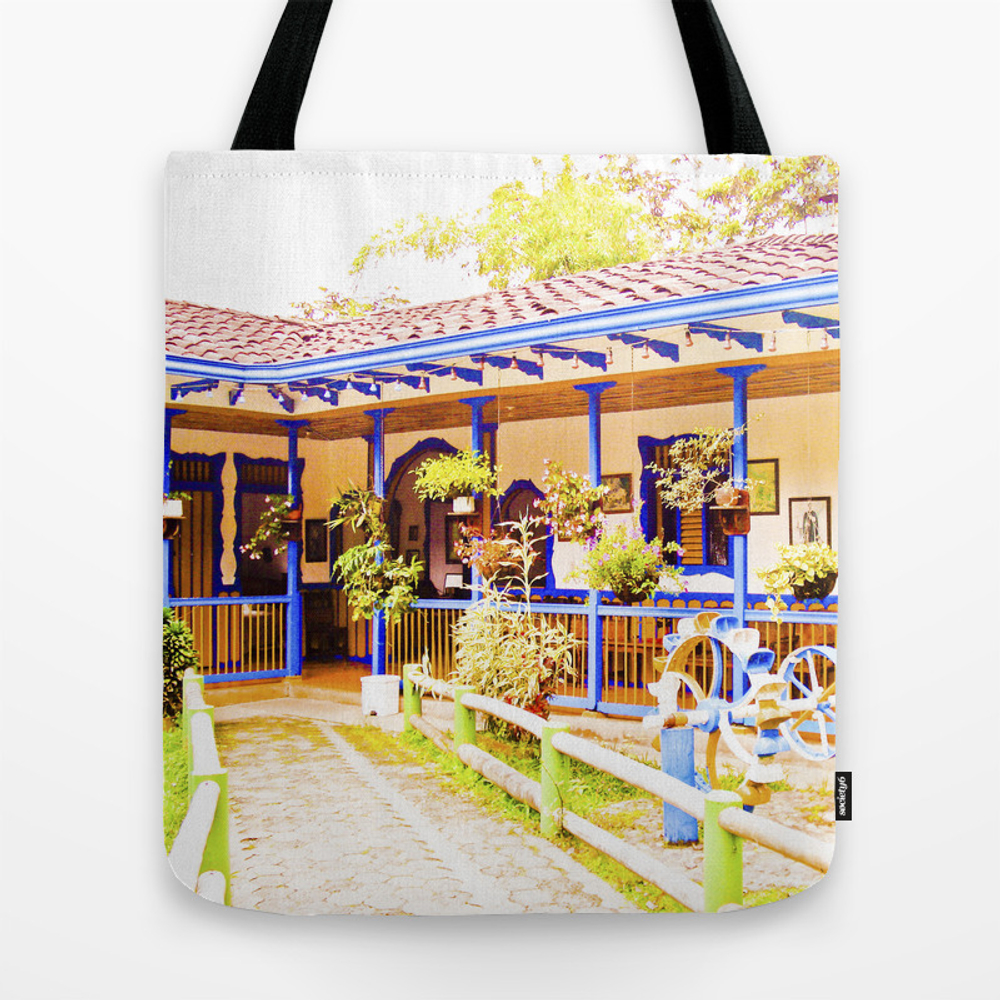 Great House, Beautiful Colors Of My Land. Tote Bag by Alejandrasweet TBG889084