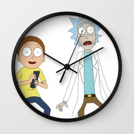 Rick and Morty 3 Wall Clock