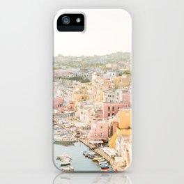 Procida Italy Gorgeous Pastel Architecture iPhone Case