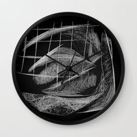 cage Wall Clocks featuring Window/Cage by Paul Kimble