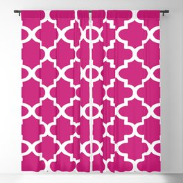 Arabesque Architecture Pattern In Dull Pink Blackout Curtain