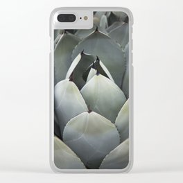 Blue Succulent Clear iPhone Case