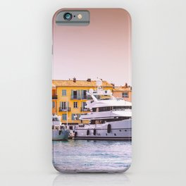 Imposing Luxury Superyachts in Saint-Tropez France | French Riviera Europe | Travel Photography iPhone Case