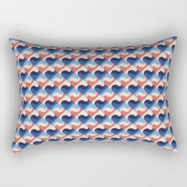Colored Fifties Pattern 02 Rectangular Pillow