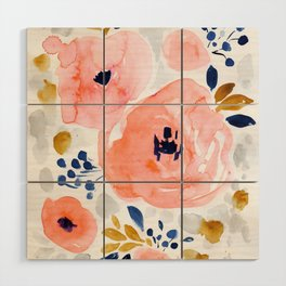 Genevieve Floral Wood Wall Art