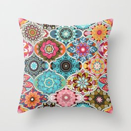 Bohemian summer Throw Pillow