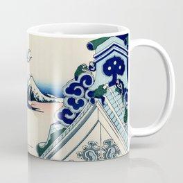 """Hokusai (1760-1849) """"Asakusa Hongan-ji temple in the Eastern capital [Edo]"""" Coffee Mug"""