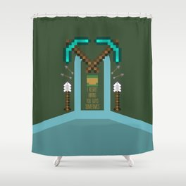 Geoff Shield Shower Curtain