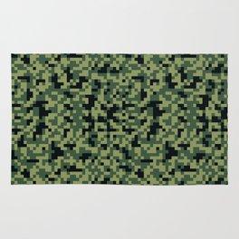 8bit camoflauge pattern Rug