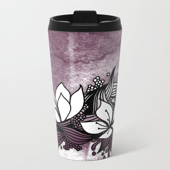 Flower Tangle Metal Travel Mug
