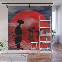 mooncats -3- Wall Mural