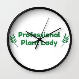 Professional Plant Lady Wall Clock