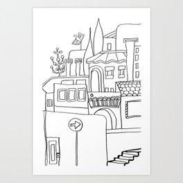 Mediterranean Lifestyle And Architecture Art Print