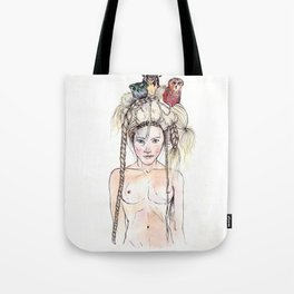 Owls in the head Tote Bag