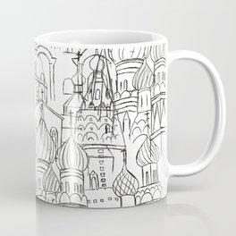 Russian cathedral church line drawing Coffee Mug