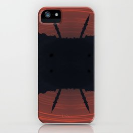 Abstract mosque silhouette iPhone Case