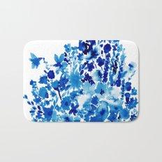 Blue Floral Bath Mat