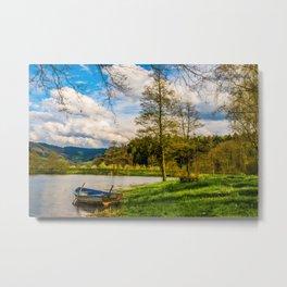 Rowboat on Lake Gengenbach Germany Metal Print