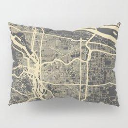 Portland Map yellow Pillow Sham