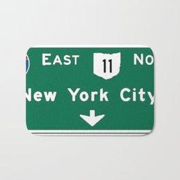 New York City Interstate 80 Sign Bath Mat