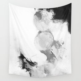 Abstract blur black and white circles monochrome Wall Tapestry