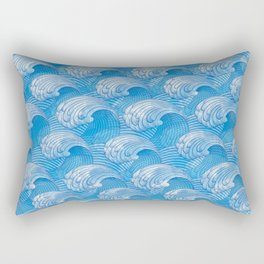 Waves - fluctuation Rectangular Pillow