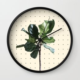 Home Ficus Wall Clock
