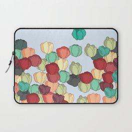 Tulip Field of Spring Pattern Laptop Sleeve