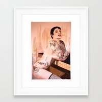 tatoo Framed Art Prints featuring Tatoo by aurora villaviejas