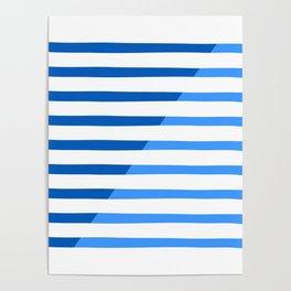 Beach Stripes Blue Poster