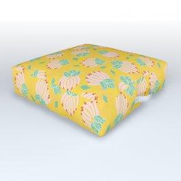 Blush Bloom Peony Lemon Outdoor Floor Cushion