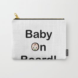 Baby on board sign pregnancy logo Carry-All Pouch