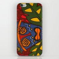 tiki iPhone & iPod Skins featuring Tiki by Shaylah Lukas Art