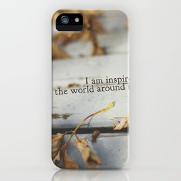 inspired by the world iPhone Case