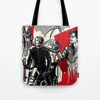 hannibal Tote Bags featuring Hannibal! by Ginger Breo