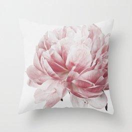 Peony, Flower, Pink, Plant, Trendy decor, Interior, Wall art, Photo Throw Pillow
