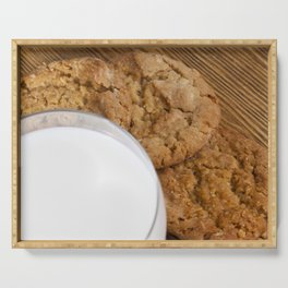 crispy crumbled wheat cookies Serving Tray