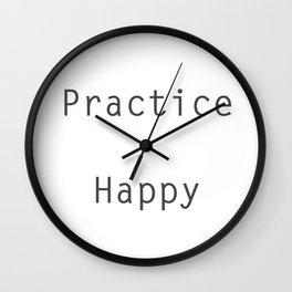 Practice Happy Wall Clock