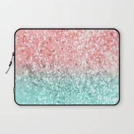 Summer Vibes Glitter #3 #coral #mint #shiny #decor #art #society6 Laptop Sleeve