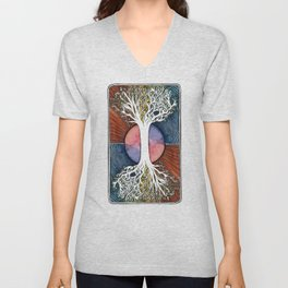 Astral Vibes Tarot Tree Unisex V-Neck