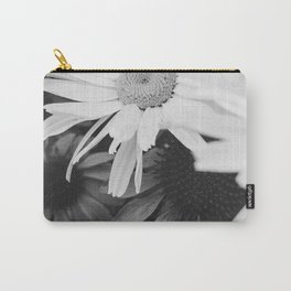 Black and white Daisies Carry-All Pouch