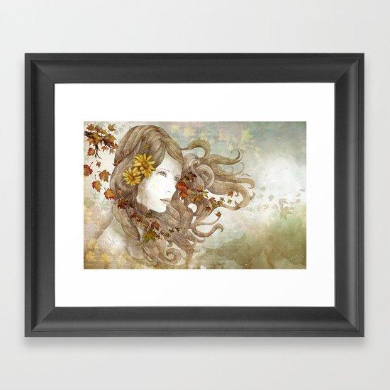 As Much as I Love Autumn Framed Art Print