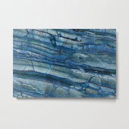 Ocean Depths Blue Marble Metal Print