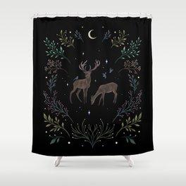 Deers in the Moonlight Shower Curtain