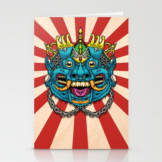Justice Barong Mask Stationery Cards