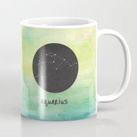 aquarius Mugs featuring Aquarius by snaticky
