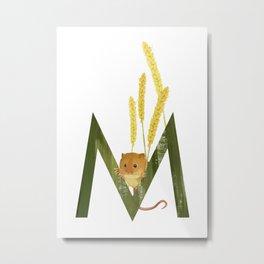 M - Mouse Metal Print