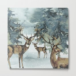 Winterly Forest 6 Metal Print