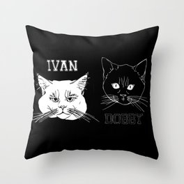 Ivan and Dobby Collegiate Inverse Throw Pillow
