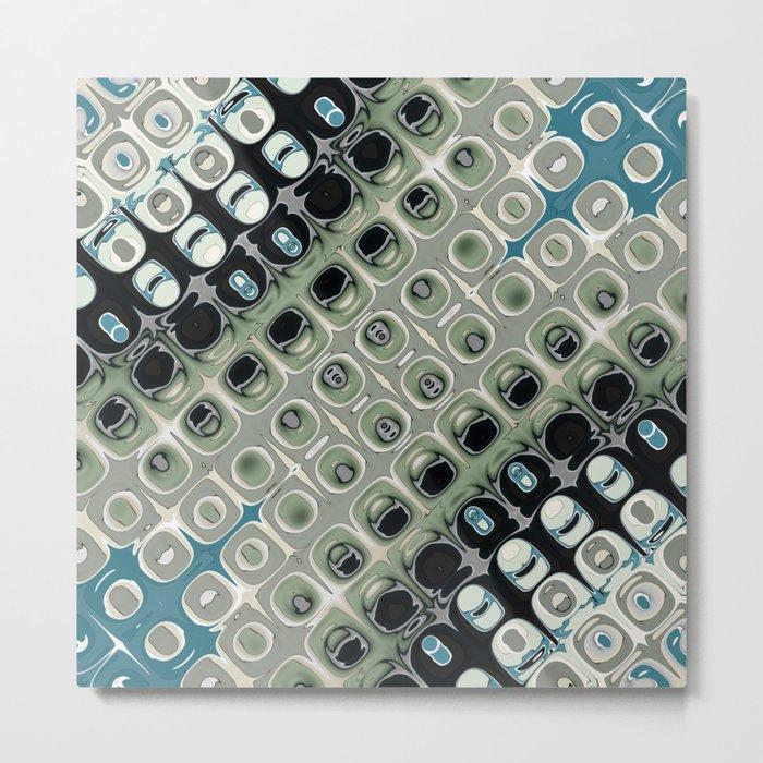Diagonal Mirror Abstract Metal Print